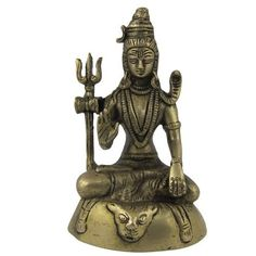 Amazon.com: Figurines Lord Shiva Hindu Religious Brass Statue 3.25 X 2.25 X 5.25 Inches: Home & Kitchen