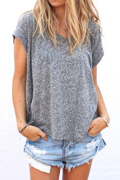 perfect v-neck / grey