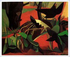 Renato Guttuso - Il merlo - 1947 - olio su tela - cm 60.5x81 - Roma GNAM