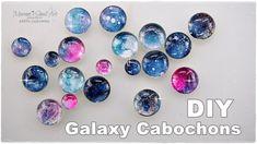 DIY ✨ Galaxy Cabochons using Watercolors ♡ Maremi's Small Art ♡
