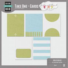 Quality DigiScrap Freebies: Take One journal cards freebie from Julia Idland Designs