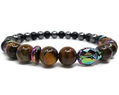 High Quality Divinely Inspired Jewelry by TwinFlameGems on Etsy Gemstone Bracelets, Gemstone Beads, Unique Necklaces, Handmade Necklaces, Tigers Eye Gemstone, Unique Gifts For Her, Diy Necklace, Glass Jewelry, Swarovski