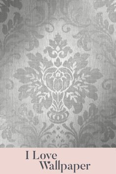 Elevate your home interior by coating your walls in the Sofia Damask Motif Wallpaper in Silver. This contemporary soft grey and silver finish oozes finesse and is suiting to most interior colour schemes. Interior Color Schemes, Colour Schemes, Interior Design, Damask Wallpaper, Love Wallpaper, Colorful Interiors, Walls, Romantic, Mood