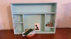Vintage Drawer Organizer // Wood Drawer // Divided Wood Box // Adjustable Dividers // Display Box // Shadowbox by GratefulBlessingsVtg on Etsy