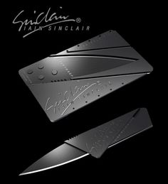 CardSharp: Ian Sinclair's Folding Security Knife – Credit Card Size