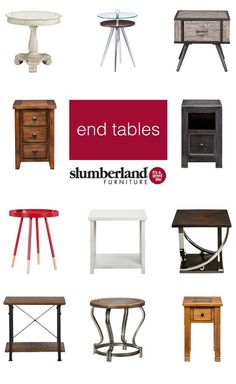 Let's talk about end tables.