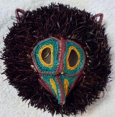 Wounaan Embera Chunga Mask Owl-Panama 16040806L