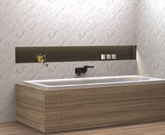 Adding a contrasting wall-mounted bath mixer and choosing a bath with a centre waste means you can share you bath (if you want to) with both ends of the bath being free to rest and relax.