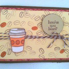 Fiskars stamp set coffee card