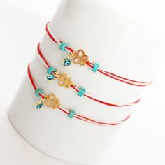 Butterfly march bracelet Macrame Bracelets, Handmade Bracelets, Handmade Jewelry, Diy Crafts Jewelry, Diy And Crafts, Boho Jewelry, Jewelery, Evil Eye Jewelry, Rakhi
