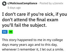 Sick Dude Told Attendance For Final Test Is Mandatory, Shows Up Looking Like Death - Cheezburger - Funny Memes Weird Stories, Funny Stories, Funny Fails, Funny Memes, Hilarious, Final Test, Crazy Mom, About Facebook, Show Up