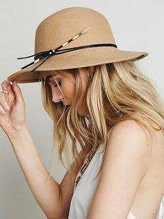 minimalist boho chic Felt Hat accde45addf