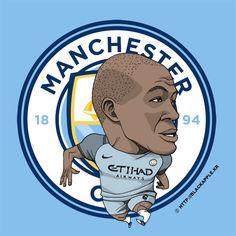 Manchester City No.6 Fernando Reges Fan Art