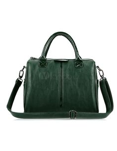 Unique Green Pillow-Shaped PU Leather Tote Bag For Woman