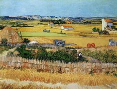Vincent van Gogh - Harvest at La Crau, with Montmajour in the Background