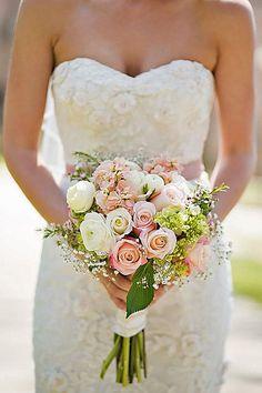 Glamorous Blush Wedding Bouquets That Inspire ❤ See more: http://www.weddingforward.com/blush-wedding-bouquets/ #weddings