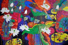 Artist - Dang Phuong Viet Title - Lotus I Medium - Oil on Canvas Dimensions - 120cm x 180cm Status - Private Collection New York