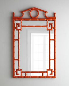 "I am drooling over this mirror.   H6JQ9 Tangerine ""Pagoda"" Mirror—Horchow"