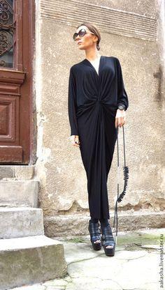 Купить Платье Black Panther - черный, платье, длинное платье в пол, платье в пол