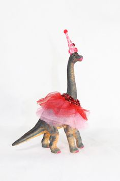 This is a Custom Order Brontosaurus. You tell me your party colors, and I will make you a custom tutu and hat/crown to adorn you dinosaur. Girl Dinosaur Birthday, Girl Birthday, Birthday Nails, Princess Birthday, Princess Theme Party, 4th Birthday Parties, Birthday Ideas, Themed Parties, Colorful Party