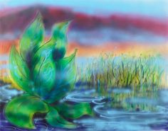 "Jerry Garcia original artwork ""Wetlands"" #GratefulDead"