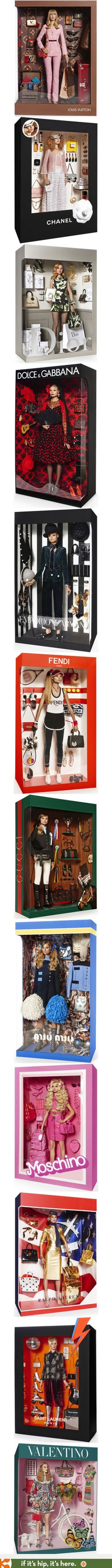Living Dolls. Packaged models wearing branded fashions | http://www.ifitshipitshere.com/living-dolls-models-become-whole-package-panoplies/