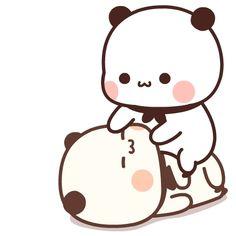 Cute Bunny Cartoon, Cute Kawaii Animals, Cute Couple Cartoon, Cute Cartoon Pictures, Cute Love Pictures, Cute Love Gif, Cute Love Cartoons, Cute Cat Gif, Cute Images