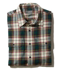 Signature Castine Flannel Shirt, Slim Fit