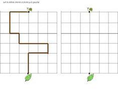 fiche pour reproduire un chemin sur un quadrillage avec un escargot