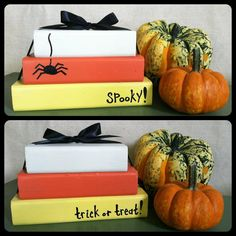 Candy Corn Wooden Block stacked set Halloween Thanksgiving Decor on Etsy, $12.00