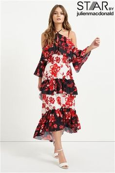 221d4197c775 Buy Star By Julien Macdonald Tiered Floral Maxi Dress from the Next UK online  shop