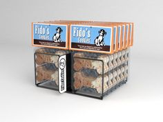 simple wire form to hold small packages of dog treats on a shelf at convience stores. www.sharkskindesign.com
