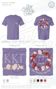 Kappa Kappa Gamma | Kappa T-Shirt Design | Love, Friendship, LoyalTEA | Tea Party Shirt Design | Floral Wreath Shirt Design | South by Sea | Greek Tee Shirts | Greek Tank Tops | Custom Apparel Design | Custom Greek Apparel | Sorority Tee Shirts | Sorority Tanks | Sorority Shirt Designs