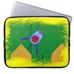 Cartoon fish close up Laptop sleeve