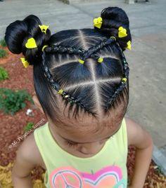 Black Baby Girl Hairstyles, Little Girls Natural Hairstyles, Cute Toddler Hairstyles, Natural Hairstyles For Kids, Kids Braided Hairstyles, Rubber Band Hairstyles, Hairstyle For Baby Girl, Hairstyles For Babies, Lil Girl Hairstyles Braids