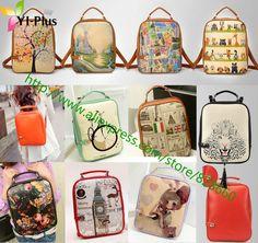 2014 fashiom print backpack women backpack  small female PU backpack school bag preppy style US $14.80