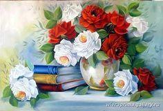 róże biało-czerwone 1