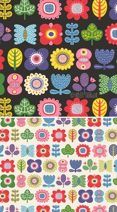 I& met some morning people during my 37 year stay on this planet. They walk and talk like people. but surel. Illustration Arte, Pattern Illustration, Illustrations, Graphic Patterns, Textile Patterns, Pretty Patterns, Flower Patterns, Surface Pattern Design, Pattern Art