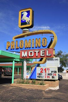 "Route 66 - The Palomino Motel, still in operation in Tucumcari, New Mexico, on what was once old Rt. 66. ""The Fine Art Photography of Frank Romeo."""