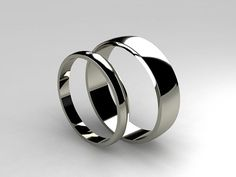 Matching titanium wedding band set by TorkkeliJewellery, $527.00
