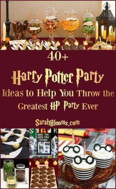 55 Best Ever Harry Potter Party Ideas – Sarah Blooms The Harry Potter nerd in me is excited by everything in this pin! Use some ideas to tackle some DIY Harry Potter party fun and save money. Harry Potter Navidad, Gateau Harry Potter, Harry Potter Weihnachten, Harry Potter Thema, Cumpleaños Harry Potter, Harry Potter Marathon, Harry Harry, Diy Halloween Projects, Diy Halloween Party