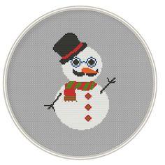 Hipster Snowman Cross Stitch Pattern Holiday от MagicCrossStitch