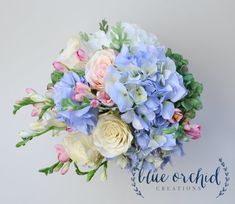 Hydrangea Bouquet  Wedding Bouquet Silk by blueorchidcreations