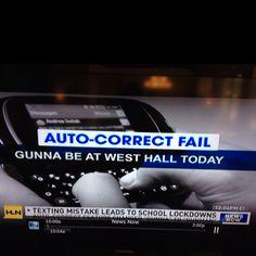 "Auto correct changes ""gunna"" to ""gunman"""