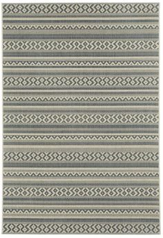 Elsinore Carbon Gray Afghan Indoor/Outdoor Area Rug