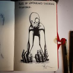 A year appointment ends of Inktober in which artists from around the world unleash their creativity. Shawn Coss drawing the mental disorders. Art And Illustration, Arte Horror, Horror Art, Inktober, Alice In Wonderland Syndrome, Depression Art, Mental Health Art, Art Tumblr, Dark Drawings