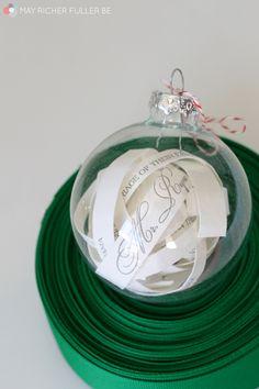 May Richer Fuller Be: Wedding Invitation Glass Ball Ornament