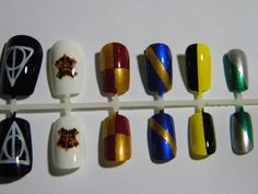Harry Potter False Nail Set by SpaceyWaceyCrafts on Etsy, $12.00