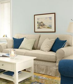Pine Point Slipcovered Sofa: L.L.Bean, best quality linen, solidly built and great price.