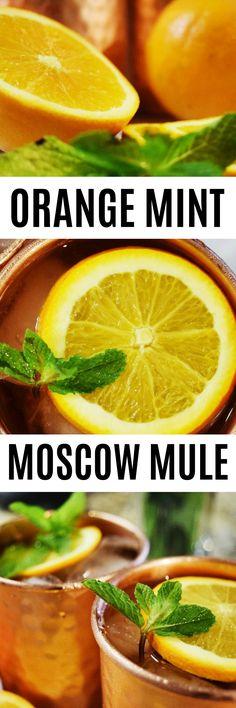 Easy Summer Orange Mint Moscow Mule Recipe!